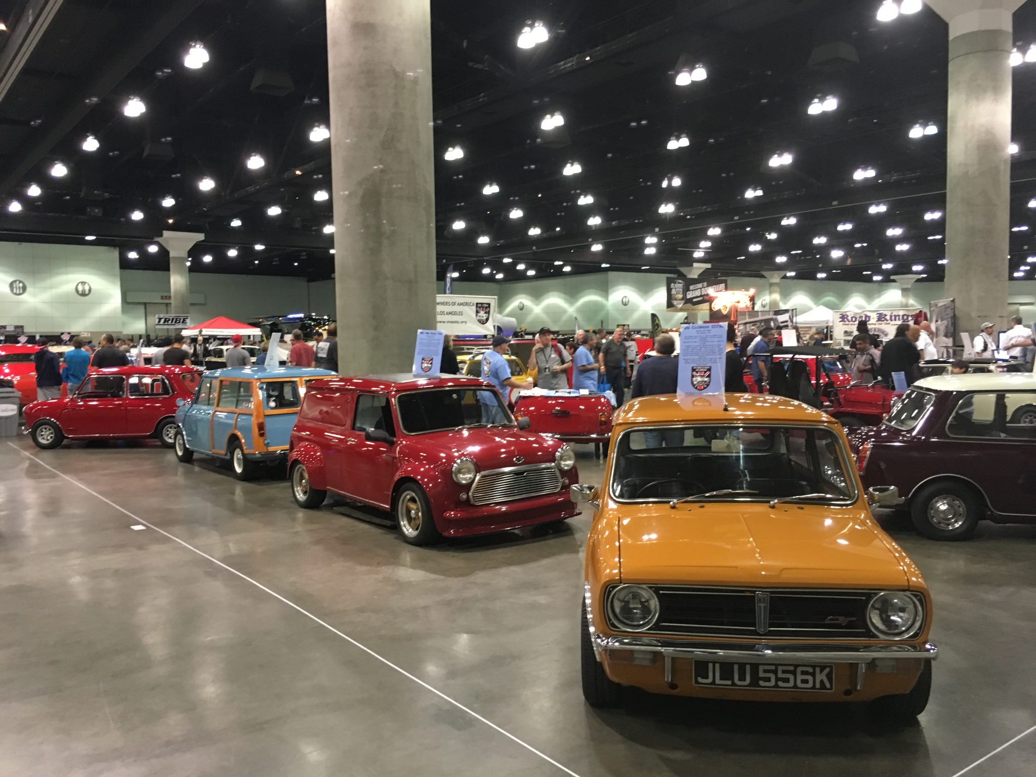 It's amazing how popular Minis are in the US and there were plenty of examples on display. No doubt the original Italian job movie is responsible.